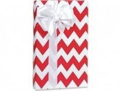 Red Chevron Gift Wrap 15 Foot Roll Wrapping Paper