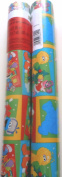 Sesame Street Christmas Gift Wrap Wrapping Paper Elmo Big Bird 2 ROLLS