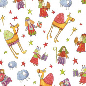Entertaining with Caspari Continuous Gift Wrapping Paper, Nativity, 1-Roll