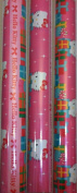 HELLO KITTY ~ Christmas Wrapping Paper 70 Sq. Ft. ~ PINK