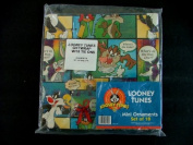 Looney Tunes Wrapping Paper with Set of 18 Mini Ornament Tie-Ons