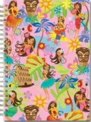 Hawaiian Stationery Journal Island Hula Honeys Too
