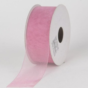 Mauve Sheer Organza Ribbon 2.2cm 25 Yards