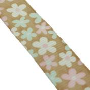 1.6cm Grosgrain Starburst Floral Ribbon Roll 10 Yard Roll