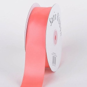 Coral Satin Ribbon Single Face 0.6cm 100 Yards