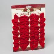 18ct 6.4cm Mini Red Velvet Bows