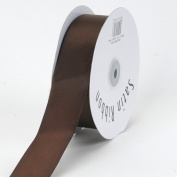 Chocolate Brown Satin Ribbon Single Face 1.6cm 100 Yards