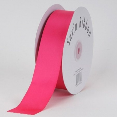 Fuchsia Satin Ribbon Single Face 1.6cm 100 Yards