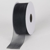Black Sheer Organza Ribbon 3.8cm 100 Yards