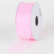 Light Pink Sheer Organza Ribbon 3.8cm 100 Yards
