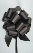 10 Pull String Bows - Gift Wrap Packaging - 13cm 20 Loops - 3.2cm - Black