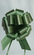 10 Pull String Bows - Gift Wrap Packaging - 13cm 20 Loops - 3.2cm - Forest Green