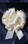 10 Pull String Bows - Gift Wrap Packaging - 13cm 20 Loops - 3.2cm - Ivory