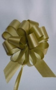 10 Pull String Bows - Gift Wrap Packaging - 13cm 20 Loops - 3.2cm - Old Gold
