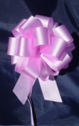 10 Pull String Bows - Gift Wrap Packaging - 13cm 20 Loops - 3.2cm - Pink