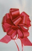10 Pull String Bows - Gift Wrap Packaging - 13cm 20 Loops - 3.2cm - Red