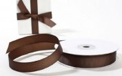 1.6cm Wide Brown Grosgrain Ribbon - 2 - 25 Yards Rolls