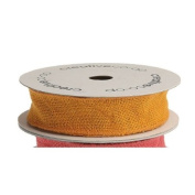 3.8cm Wide Orange Wired Burlap Ribbon on Spool 10 yds