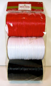 Jo-ann's Holiday Inspirations Raffia Ribbon,red/white/black,180ft.total