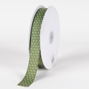 Willow with Ivory Dots Grosgrain Ribbon Swiss Dot 1.6cm 50 Yards