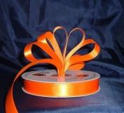 Ribbon - Satin Ribbon- 2.2cm Single Face 50 Yards (150 FT) - Orange - Sewing - Craft - Wedding Favours