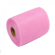 Rosallini Pink Flower Wrap Wrapper Nylon Mesh Fabric Wrapping Roll