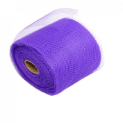 Rosallini Purple Flower Nylon Mesh Fabric Wrapper Wrapping Roll