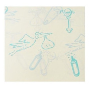 Blue Baby Characters tissue paper