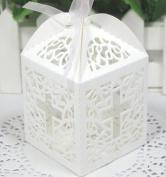 Cross cutout baptism communion christening Die cut Favour Boxes