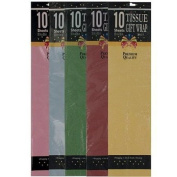 24 Packs of 10 Assorted Colour Gift Tissue
