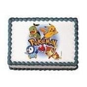Pokemon Gang Cake Edible Image