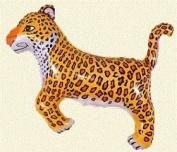LEOPARD Cheetah Black SPOTS Jungle ZOO Safari 80cm Party ANIMAL Mylar BALLOON