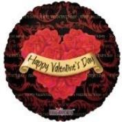 """HAPPY VALENTINE'S DAY"" Roses 46cm Mylar Balloon 1 Sided"