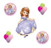 Sofia the First Disney Princess Mylar Latex Happy Birthday Balloon Set