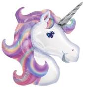UNICORN Pink Purple MAGICAL Princess 80cm Tall Party Mylar Foil BALLOON