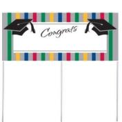 Graduation Stripes Yard Banner w/Stakes