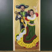 Plastic Fiesta Couple Photo Door Banner