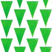 100 Foot Green Pennant Banner