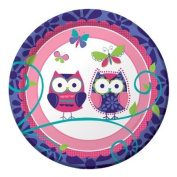 Owl Pal Birthday Luncheon Plate by Creative Converting - 415624