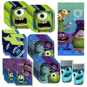 Disney's Monsters University Deluxe Party Supplies Pack Including Plates, Cups, Napkins and Tablecover - 16 Guests