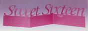 Sweet Sixteen Glitter Centrepiece - 100cm x 25cm