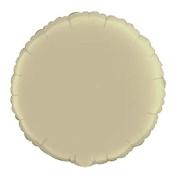 46cm Ivory Round Mylar Balloon