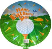 Happy Father's Day Golf 46cm Mylar Balloon