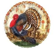 Thanksgiving Turkey in Field 46cm Mylar Balloon