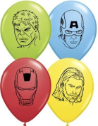 Avengers Face 13cm Round Balloons by Qualatex - Pack of 12