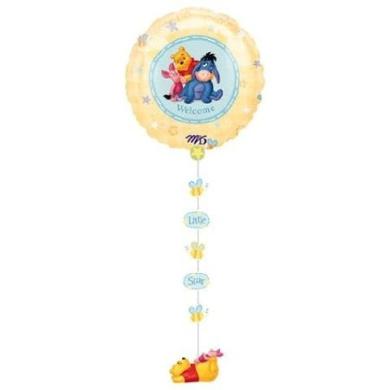 Winnie the Pooh Welcome Baby DropALine Balloon