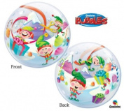 Happy Elves 60cm Christmas Bubble Balloon