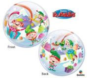 Happy Elves 60cm Christmas Bubble Balloon