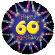 60th Birthday Candles Balloon 46cm
