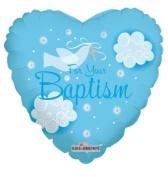 Baptism Mylar Balloon 46cm Blue